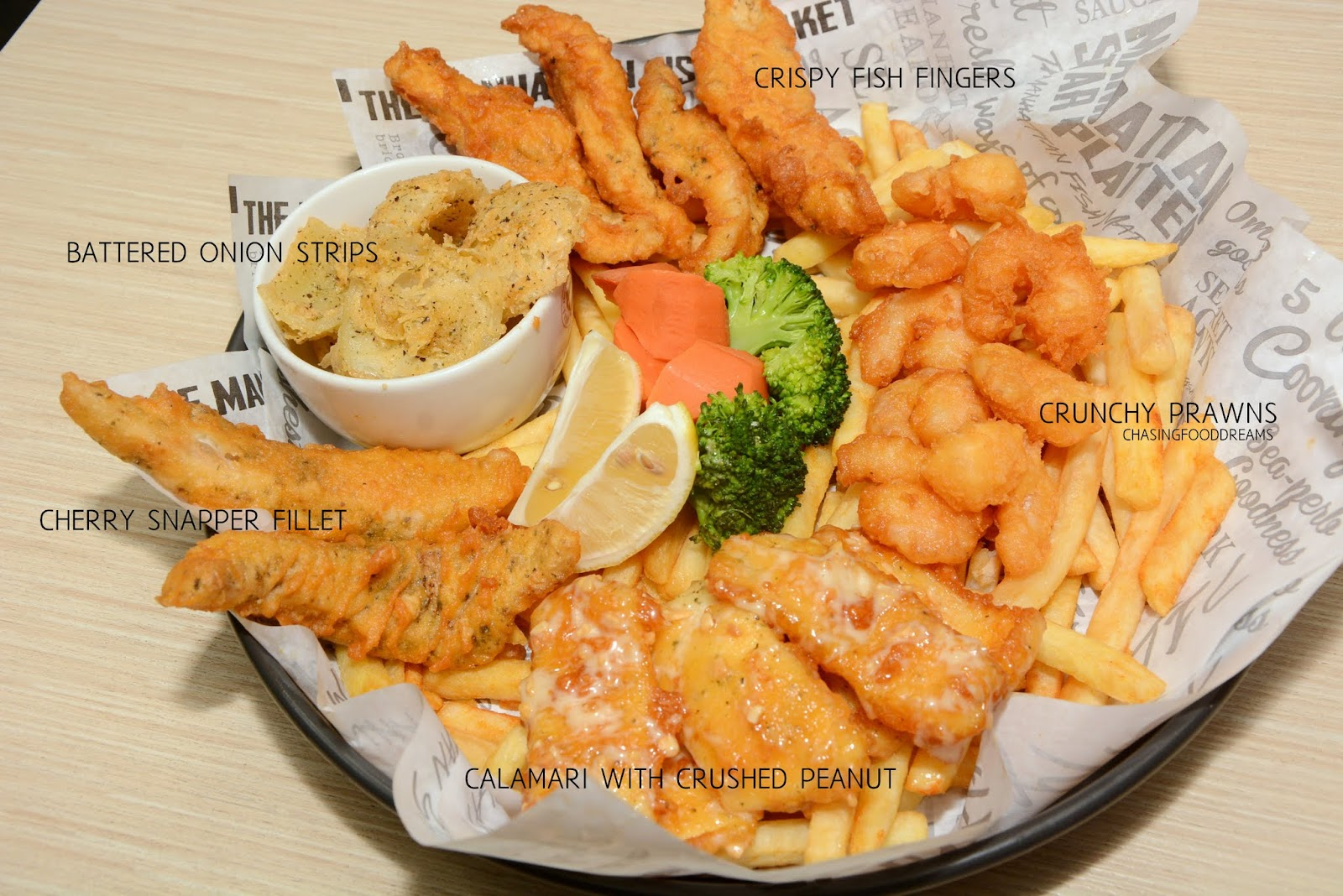 Chasing food dreams manhattan fish market new menu for Manhattan fish and chicken menu