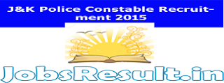 J&K Police Constable Recruitment 2015