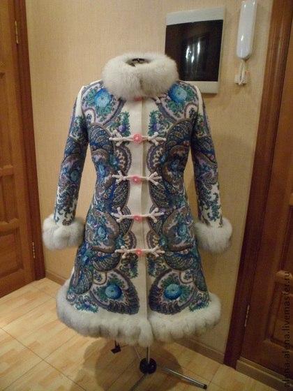Куртка из павлопосадских платков своими руками