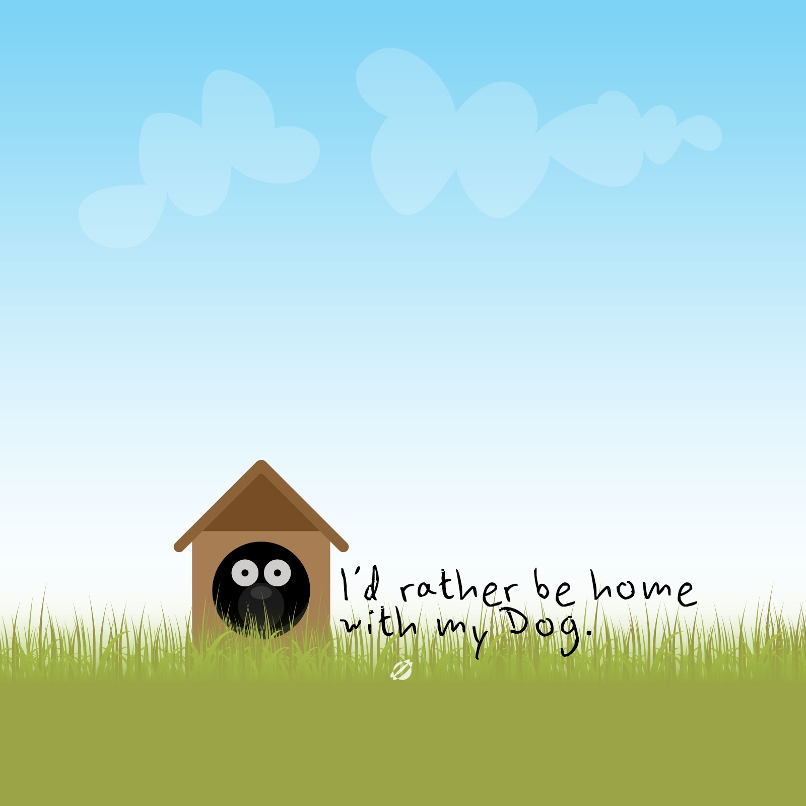 LostBumblebee iOS7 iPad WallPaper FREE- I'd rather be home with my dog