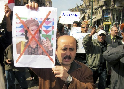 Libya protestors confirm A4e R Shite - Photo Exclusive