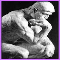 O pensador de Rodin pensando nos preços absurdos de certas mercadorias vendidas em pequenas quantidades