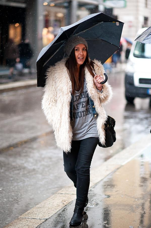 Maravillosos outfits de invierno | Lluvia a la moda