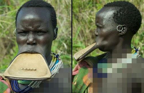 Mulut besar gadis Ethiopia