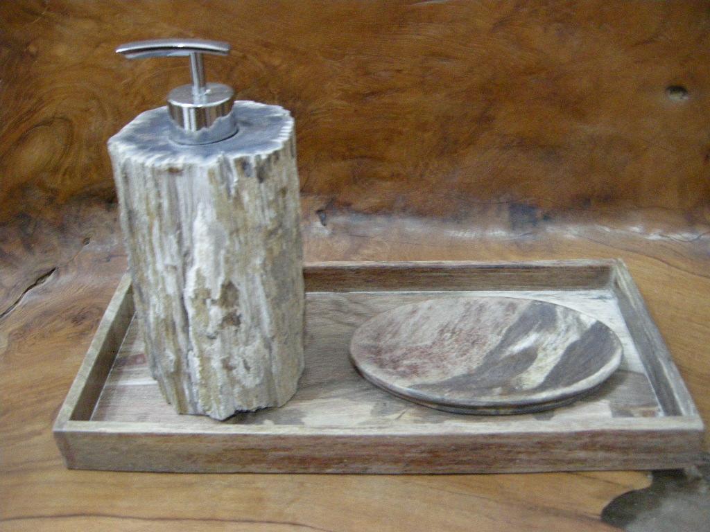 An error occurred. Petrified Wood Bathroom Accessories   IndoGemstone