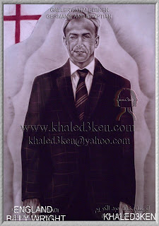 STARS ENGLAND BILLY WRIGHT Portrait Drawing Soccer Football Khaled3Ken Gallery