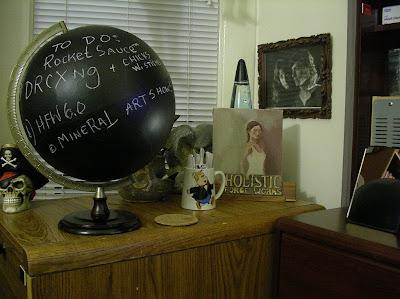 blackboard globe