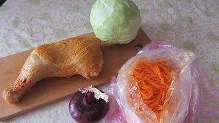 продукты для салата с корейской морковкой и курицей