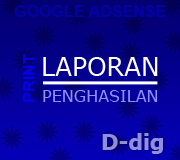 Mencetak/Print Statement of Earnings - Google Adsense
