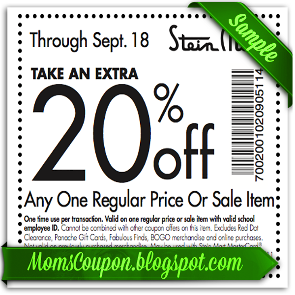 "Highlights for Stein Mart. With a slogan like ""Saving is a beautiful thing,"" Stein Mart tops the list of department stores dedicated to great values for shoppers. That's one reason there are plentiful Stein Mart coupons to help save on home furnishings, children's apparel, luggage and electronics."