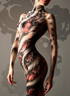 Starred Body Paint Body Covering