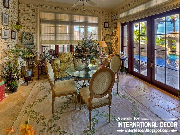 Mediterranean Palace in Florida, American palace Colonial style, classic dining room