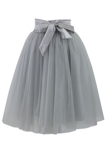 Tulle Skirt in Grey