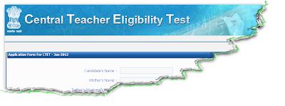 CTET 2012 Online Form