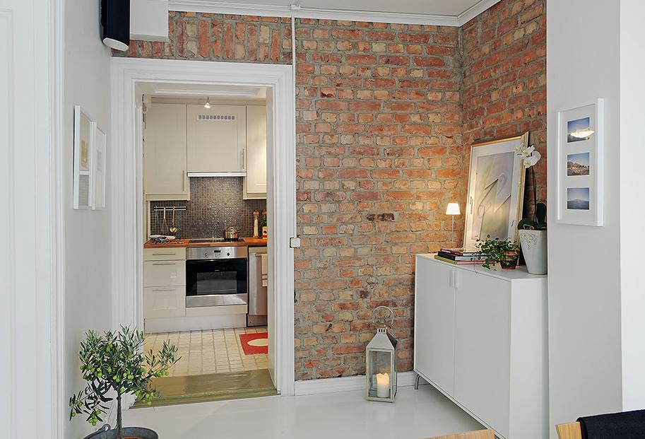 parede de tijolinho a vista na decoração, Decorar a casa de forma simples, decoração com amor.