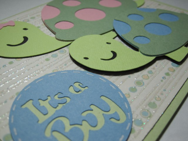 baby boy card the mom is having a turtle theme for her baby shower an