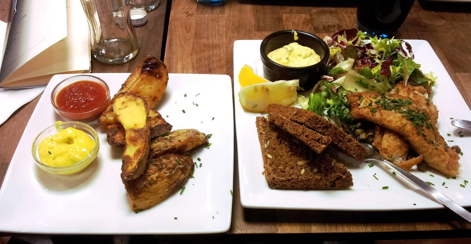 Fried fish and chunky chips in Copenhagen
