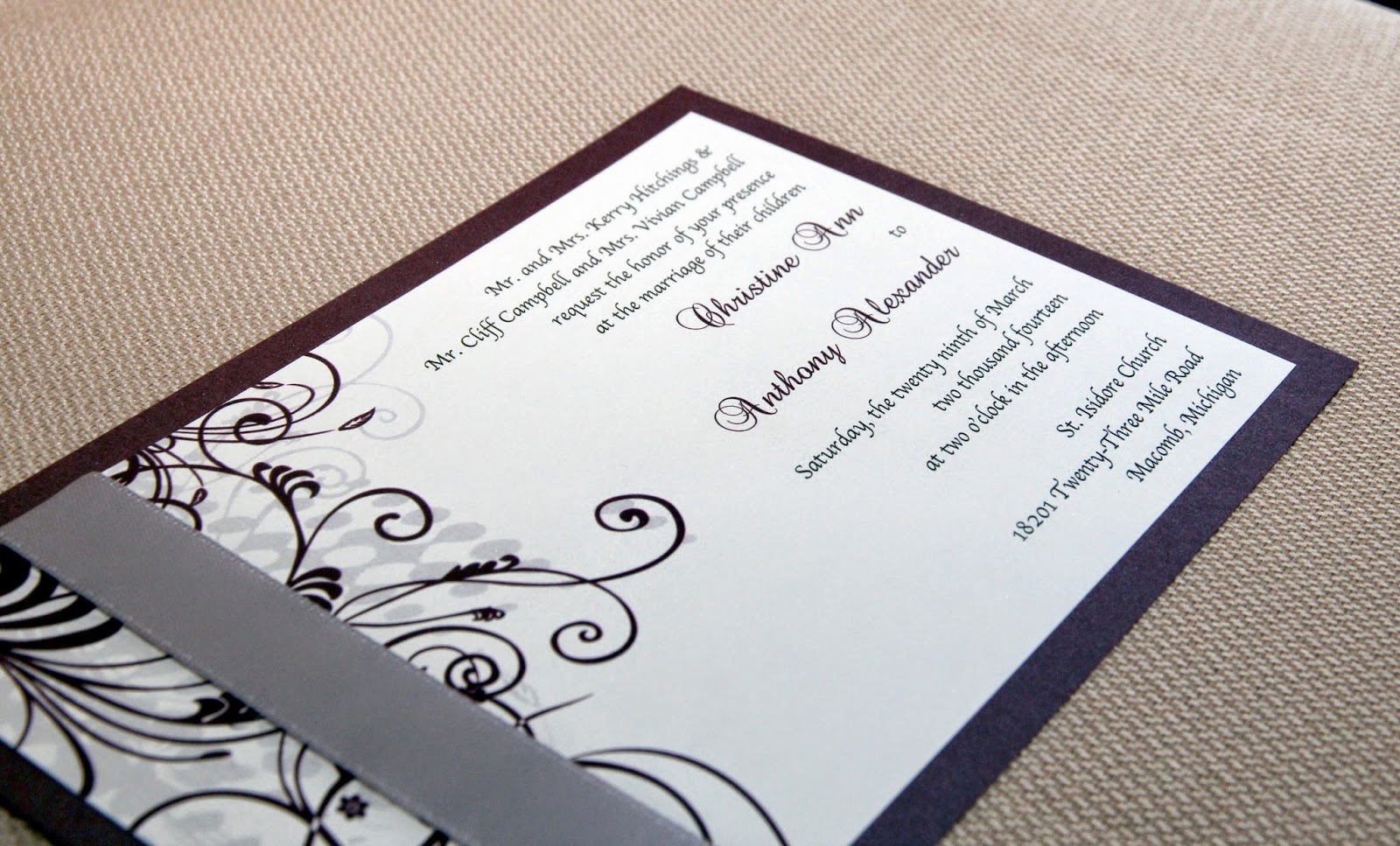Scrapping Innovations: Christine and Tony\'s Wedding Invitation Suite