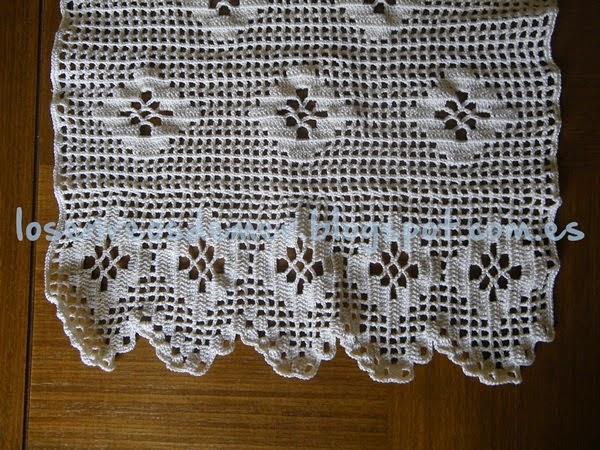 Detalle de puntilla realizada a crochet