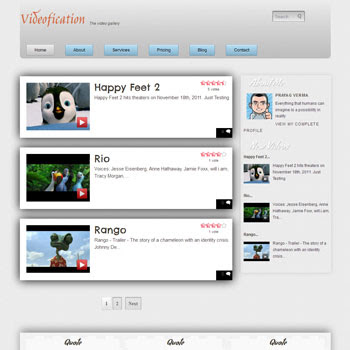 Videofication blogger template. free blogger template video design