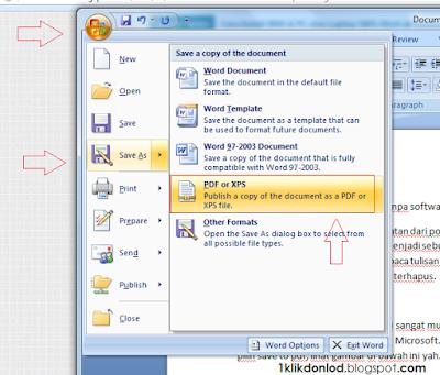 Cara menyimpan file word ke pdf tanpa software