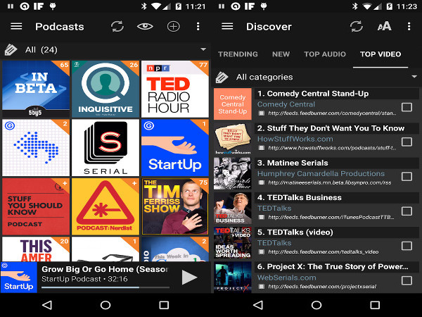 Apps para Android - Podcast Addict