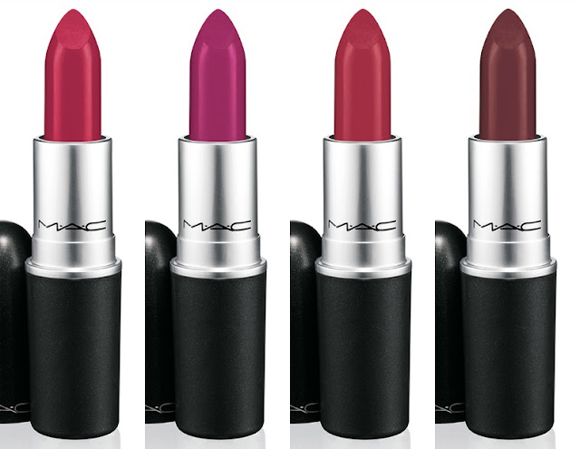 All Fired Up, Flat Out Fabulous, Ruby Woo, Fixed On Drama MAC Retro Matte Lipsticks — A Modern Mrs.