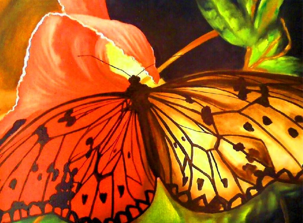 Pinturas cuadros lienzos lienzos de mariposas - Color y pintura ...