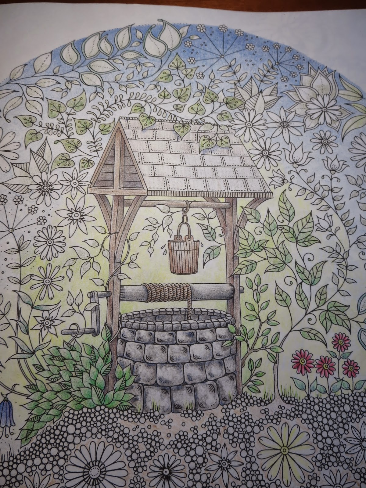 Passion for Pencils: My Secret Garden colouring book, part 5