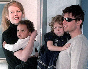 Nicole Kidman and Tom Cruise photographed with their children