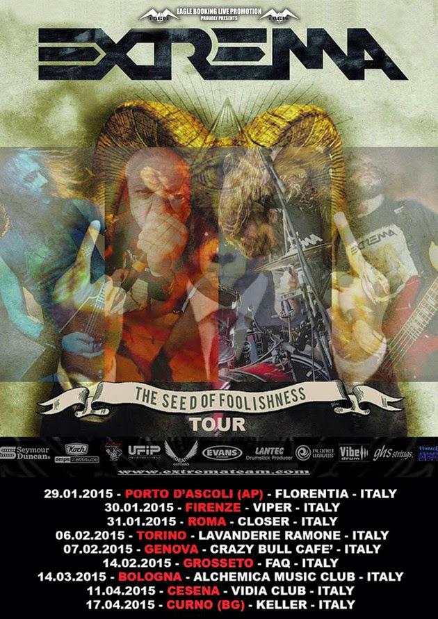 Extrema - Italia - tour 2015