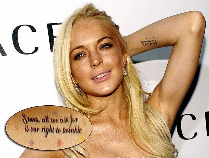 Lindsay Lohans Tattoos Info