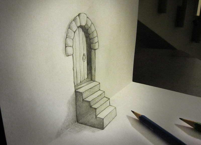 Kesenian Karya Seni Gambar Ilusi 3d Anamorphic Alessandro Diddi