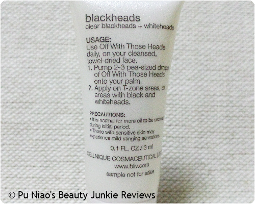 B.liv Off With Those Heads – Blackheads Sebum Gel