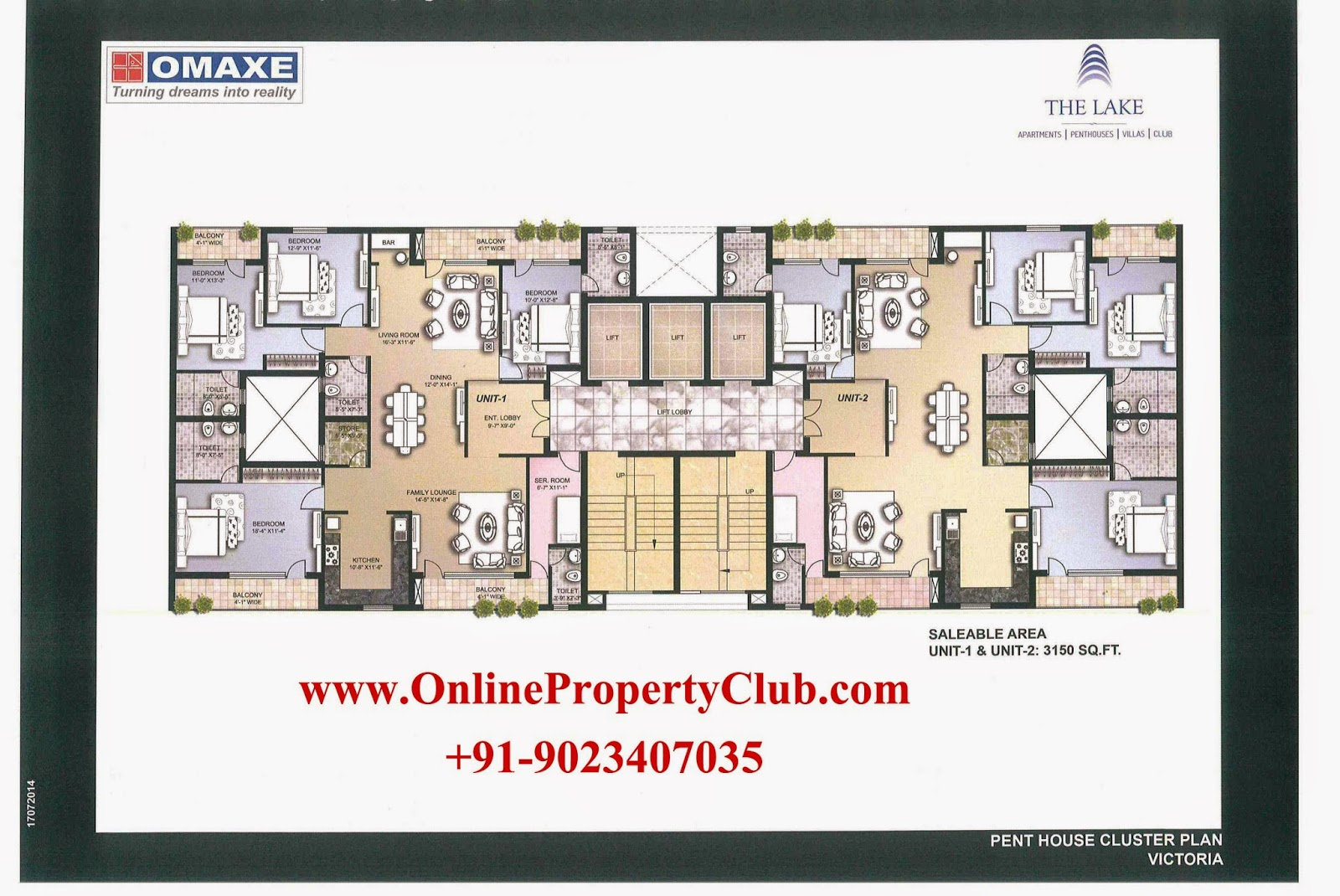 The Lake - 2,3,4 BHK Flats Apartments in Omaxe New Chandigarh Mullanpur