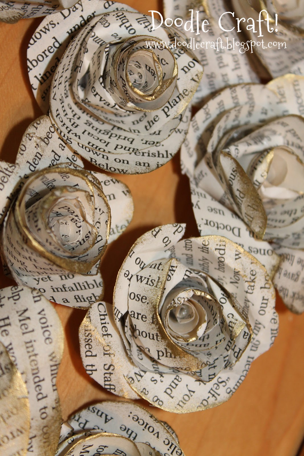 Doodlecraft upcycled book page rosettes for How to make an old book