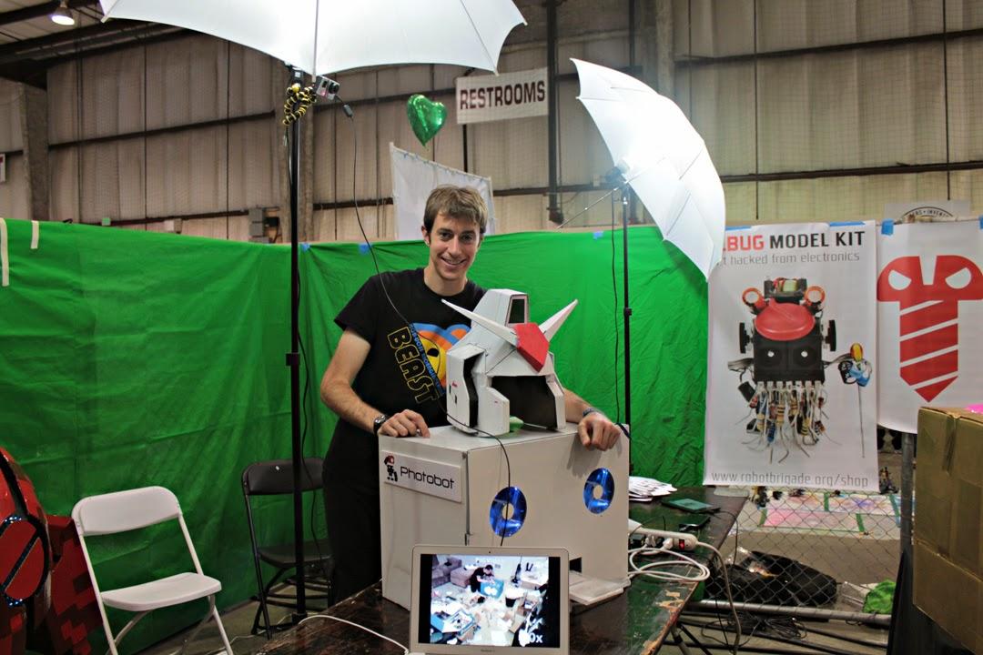 Robot Brigade staffer with Photobot