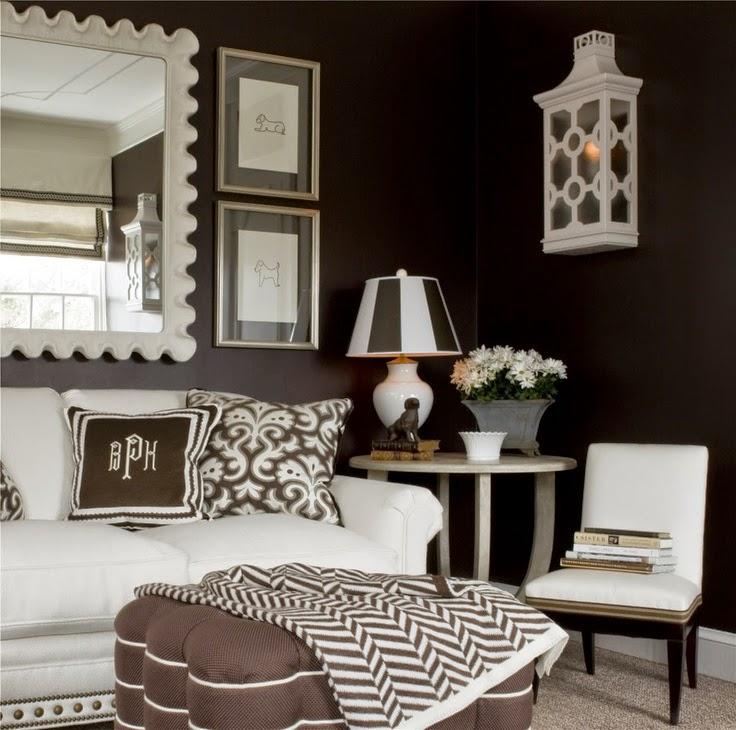 decoración de salas color chocolate