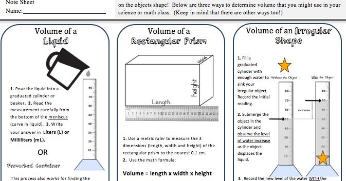 Kate\'s Science Classroom Cafe: Volume Practice Freebie
