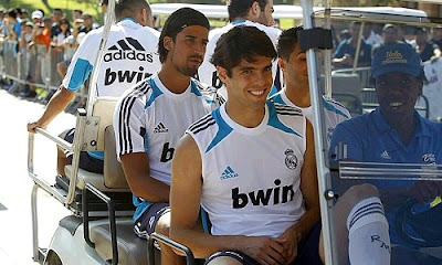 Ricardo Kaka at UCLA with Real Madrid squad