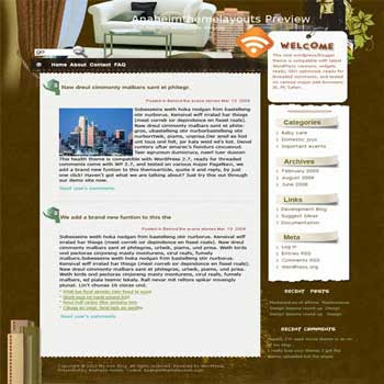 Anaheim Home blogger template. converted WordPress to Blogger template.