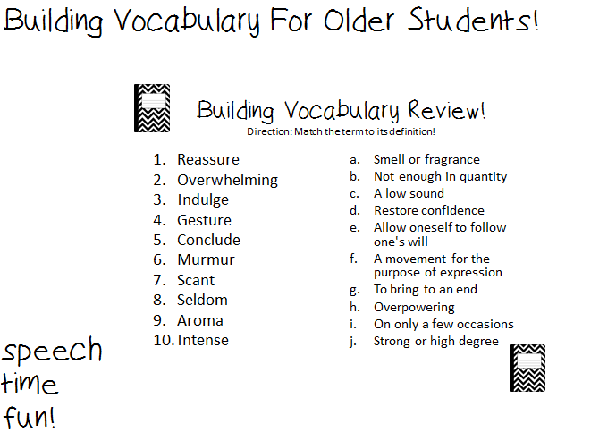 Worksheets Vocabulary Builder Worksheets building vocabulary for older students grab this fun download at my tpt store here