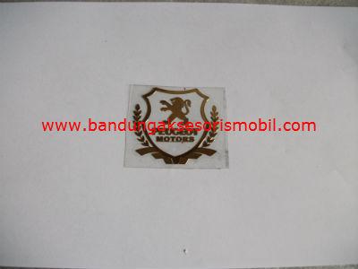 Emblem Alumunium Kotak Kecil Logo Mobil Peugeot