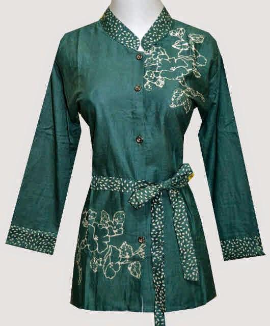 model baju batik atasan wanita kerja