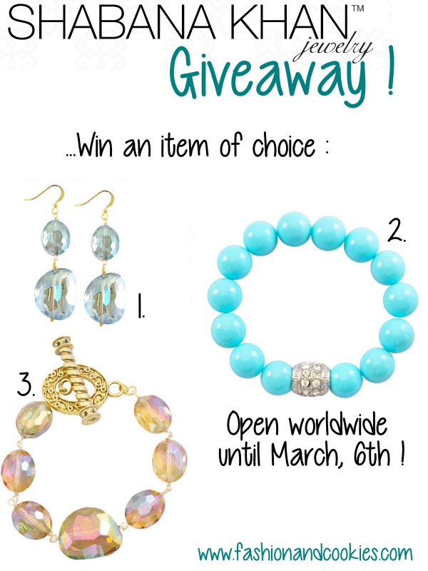 Shabana Khan Jewelry Giveaway on Fashion and Cookies