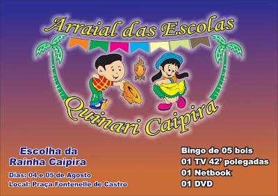 Secretaria Municipal de Educação adia data do QUINARI CAIPIRA