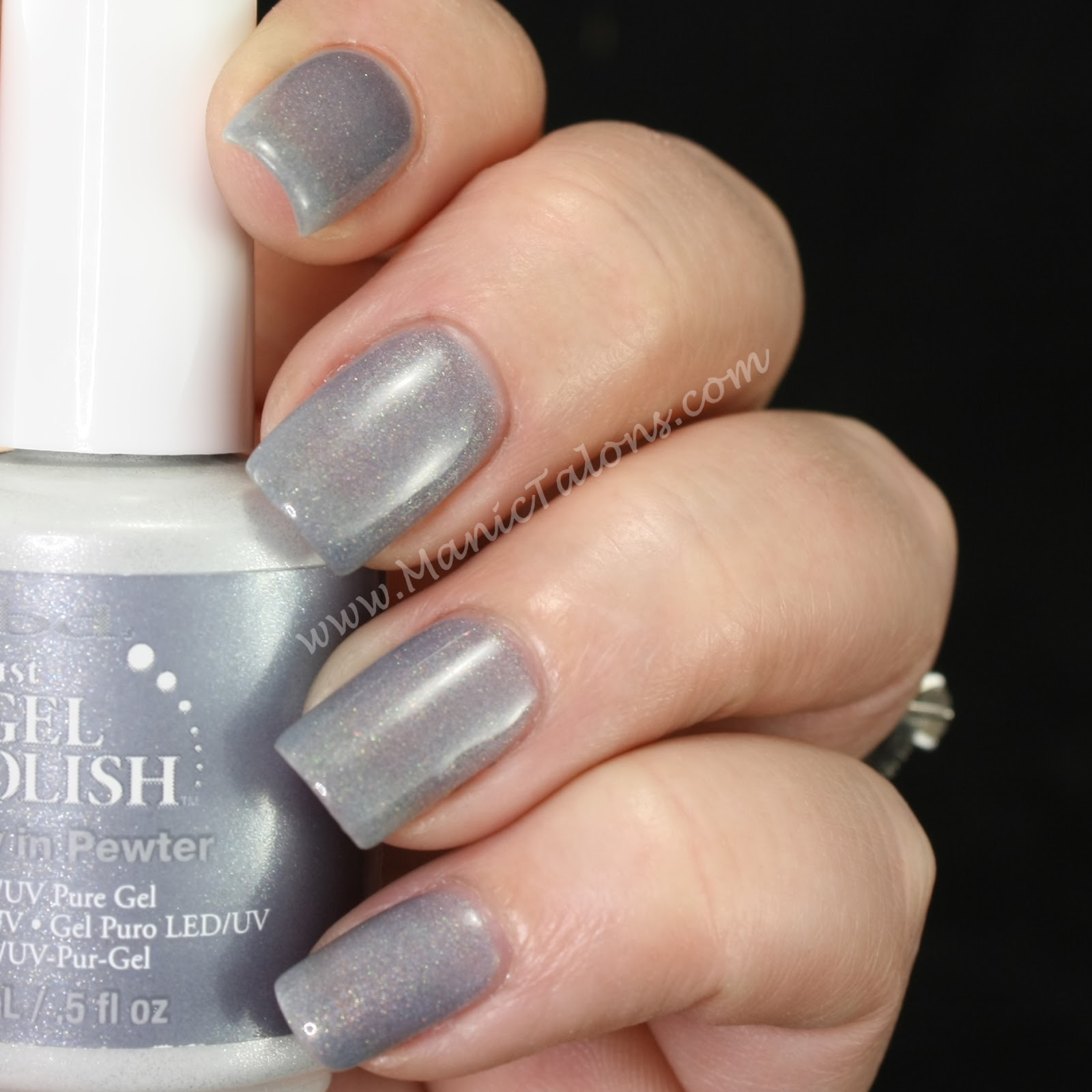 IBD Just Gel Pretty in Pewter Swatch