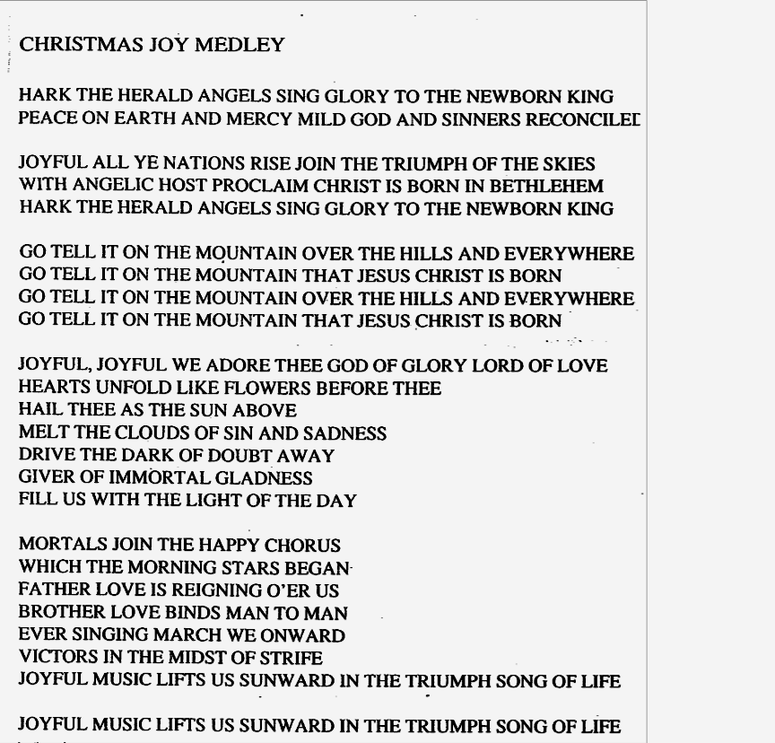 christmas joy medley lyrics - Christmas Medley Lyrics