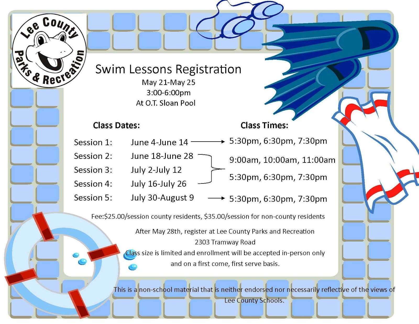 Lee County Government Swim Lessons