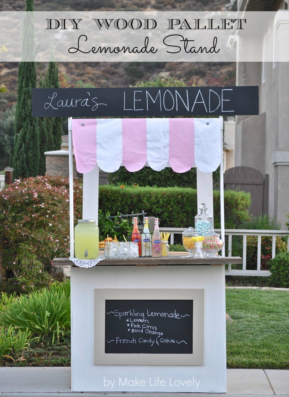 Diy Lemonade Stand From Wood Pallets World Market S Summer In  # Diy Pallete Cuisine